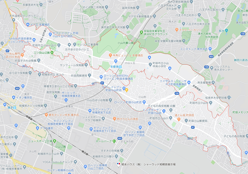 多摩境(小山が丘・小山町)の地図